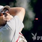 Aleš Fevžer je navduševal s svojimi udarci. Golfisti ga imajo na sumu, da igra dosti boljše, kot kaže njegov hendikep. (foto: Bor Dobrin)