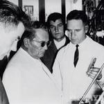 Tito na obisku v Institutu Jožef Stefan, 1976. (foto: ?)