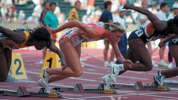 Katrina Krabbe, svetovna prvakinja 1999 v teku na 100 m, je skušala preslepiti komisijo s tujim urinom. (foto: *)