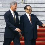 Clinton in Lee Teng-hui (foto: *)