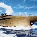 Ekstravagantni zlati Hokulani (Palmer Johnson 150) je lepotec med lepotci. Leta 2008 splovljena 25 milijonov evrov vredna superjahta je počitniška rezidenca na vodi. (foto: arhiv Nuvolari-Lenard)