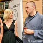 Nekdanja urednica Playboya Barbara Bizjak in aktualni urednik Borut Omerzel (foto: Ivana Krešić)
