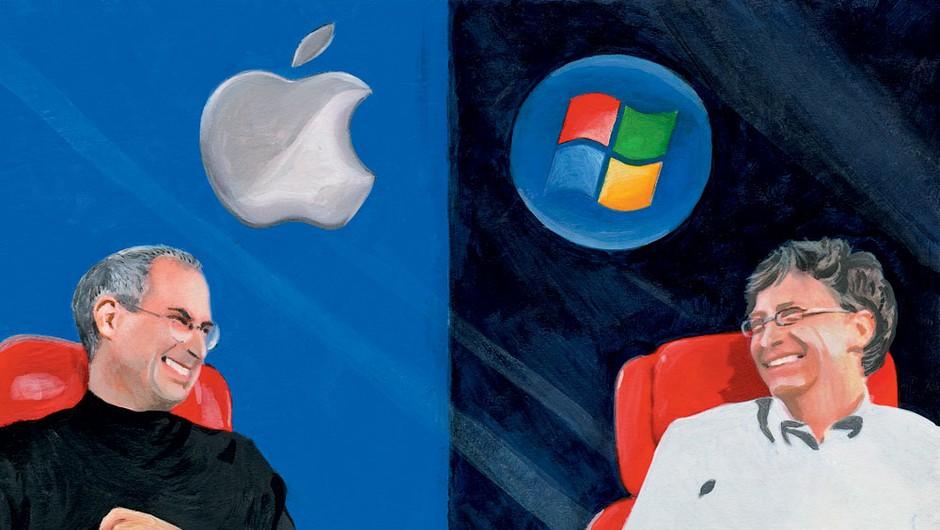 Steve Jobs vs. Bill Gates (foto: Goya)