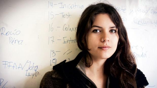 Čilski študentski upor: Komandantka Camilla (foto: Morten Andersen)