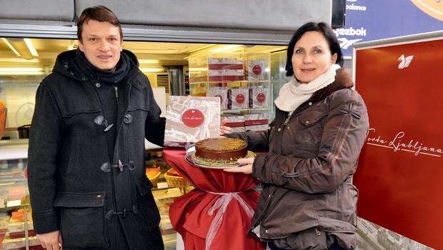 Eva Strohmaier Ocvirk in Marjan Nemanič: Če ima Dunaj svojo torto, zakaj je ne bi imela tudi Ljubljana (foto: Primož Predalič)