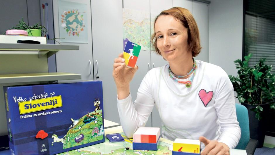 Maja Ogrizek o učenju skozi zabavo: Z družabno igro spoznajmo Slovenijo (foto: goran antley)