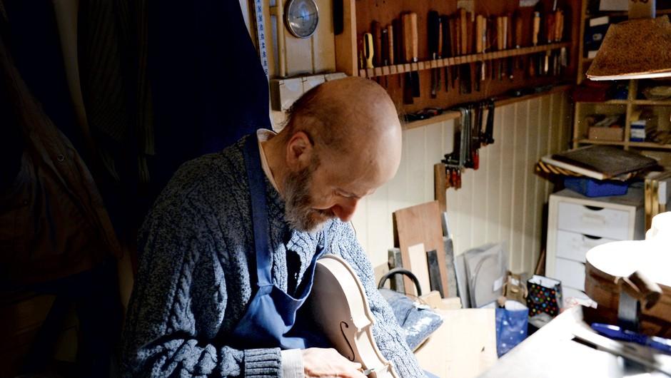 Intevju z izdelovalcem violin Vilimom Demšarjem (foto: Primož Predalič)