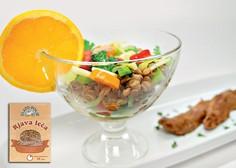 Gourmet: Osvežilna solata iz leče in pikantne račje prsi