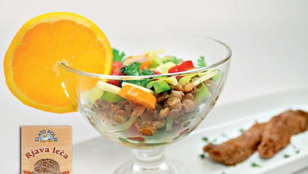 Gourmet: Osvežilna solata iz leče in pikantne račje prsi (foto: Playboy Press)