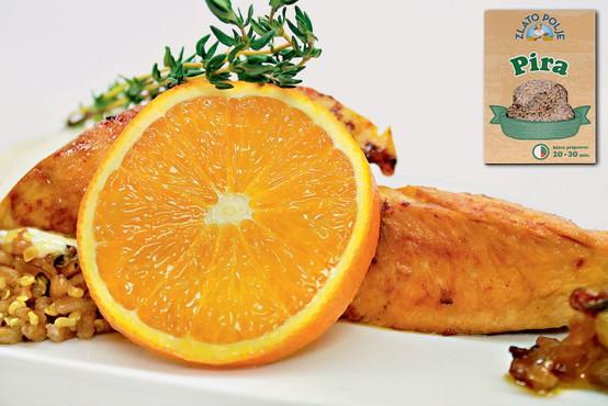 Gourmet: Pečena pira z mocarelo in puran s čilijem