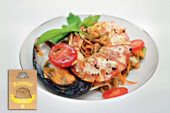 Gourmet: Kamut z morskimi sadeži