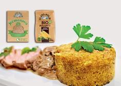 Gourmet: Teletina, ječmenova kaša z jurčki in popečena polenta z bučnim oljem