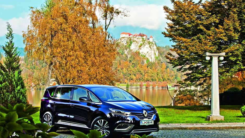 Renault Espace nas je peljal v Vilo Bled (foto: Adriamedia)