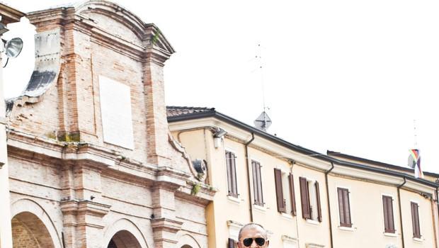 Italijanski dizajner Aldo Drudi: Pri dirkanju z motociklom ubiraš čim bolj čiste, kratke in enostavne linije. (foto: Saša Kapetanović)
