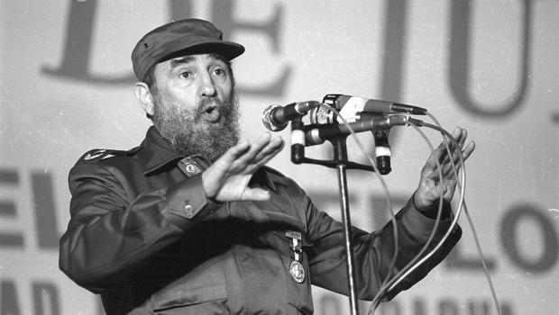 Fildel Castro leta 1985 med govorom v Nikaragvi. (foto: Profimedia)