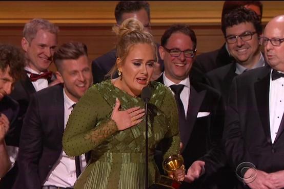 Grammyje za album, pesem in posnetek leta je osvojila Adele!