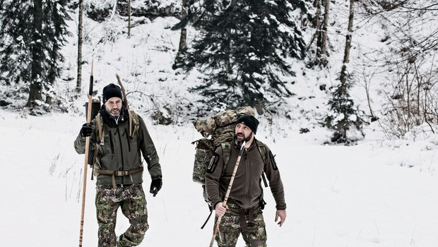 Neustrašni Peter Poles v divjini z Branetom T. Červekom (foto: Ljubo Vukelič)