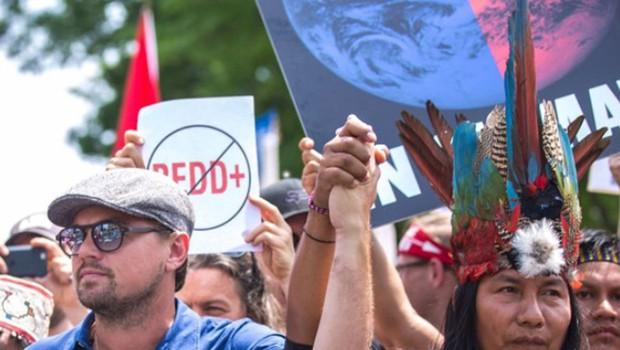 Leonardo DiCaprio na protestu za okolje v Washingtonu (foto: profimedia)
