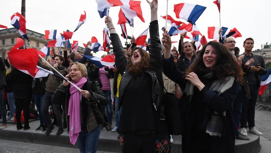Emmanuel Macron prepričljivo zmagal na predsedniških volitvah v Franciji (foto: profimedia)