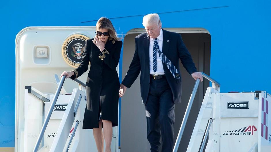 Trumpov obisk na Bližnjem vzhodu je večkrat sprožil posmeh na Twitterju! (foto: profimedia)