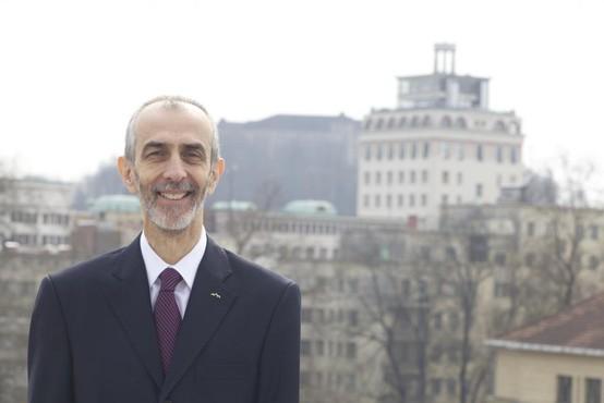 Dr. Milan Jazbec, veleposlanik, ki je s svojo kandidaturo izzval aktualnega predsednika