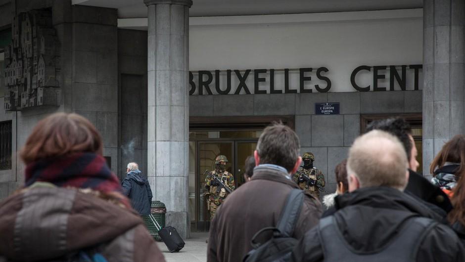Policija zaradi eksplozije evakuirala centralno postajo v Bruslju (foto: profimedia)