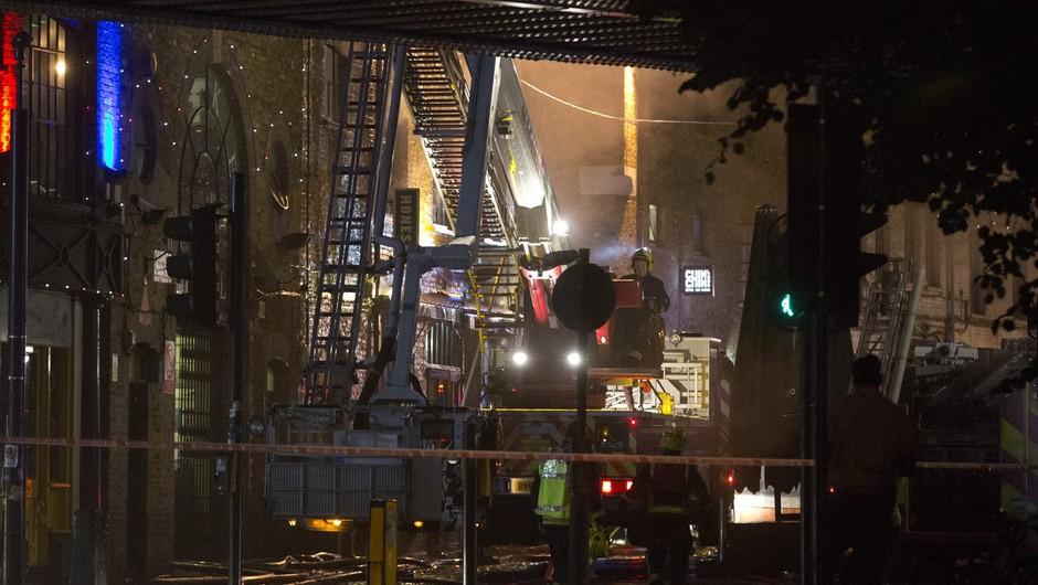 Londonsko tržnico zajel požar (foto: profimedia)