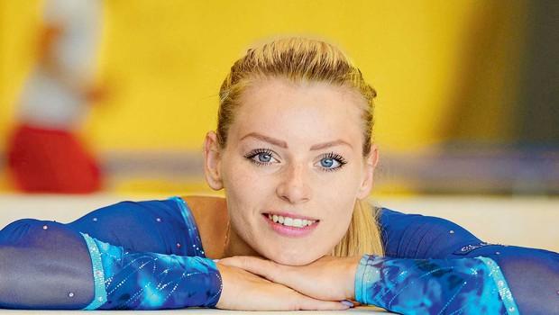 Teja Belak: Gimnastika je šport, v katerega moraš vložiti veliko dela (foto: Primož Predalič)