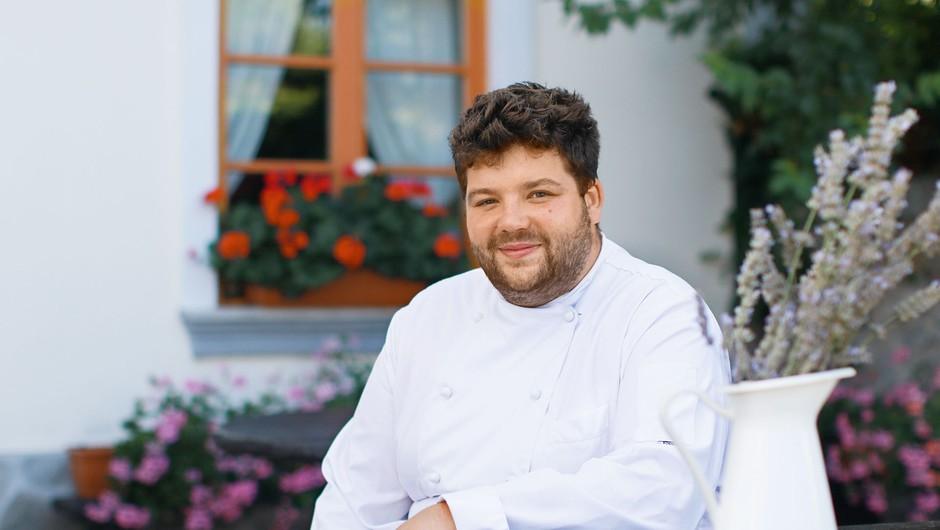 Luka Košir: Če imaš dobro surovino,  imaš v kuhinji pol manj dela (foto: Goran Antley)