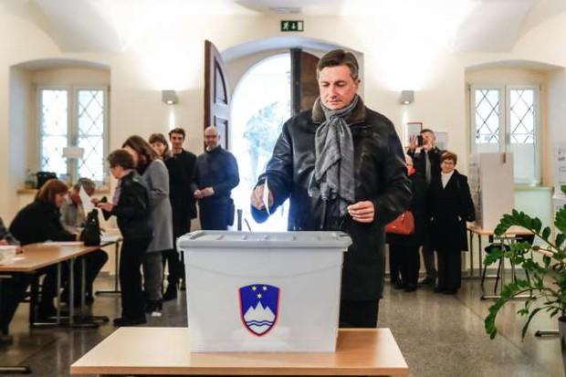 """Borut Pahor: """"Danes sem veliko bolj miren kot v prvem krogu!"""" (foto: Stanko Gruden/STA)"""