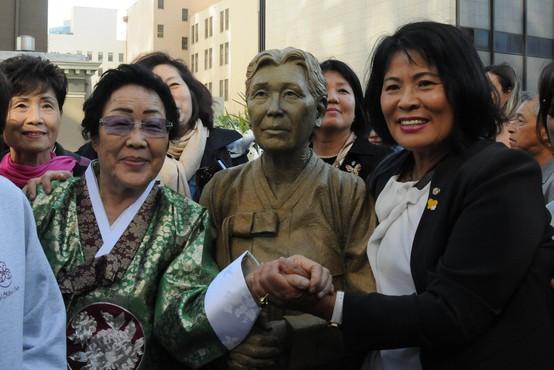San Francisco razburil Japonce s spomenikom spolnim sužnjam