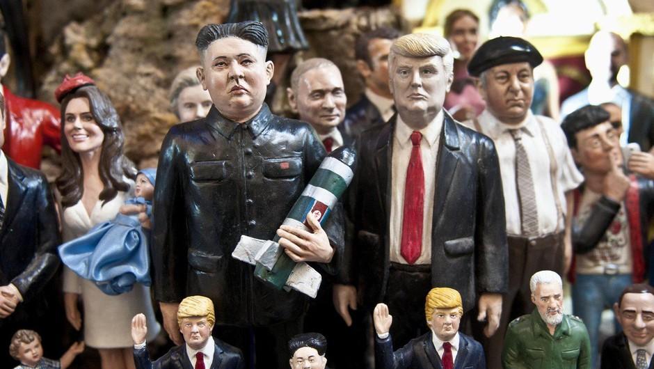 Trump svari Kima, da je njegov gumb za jedrsko orožje večji! (foto: profimedia)