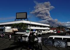 Izbruh filipinskega vulkana z domov pregnal skoraj 40.000 ljudi