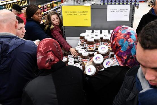 """Nutella orgija v Franciji: """"Ljudje so planili v trgovine in odrivali vse, kar jim je prišlo na pot!"""""""