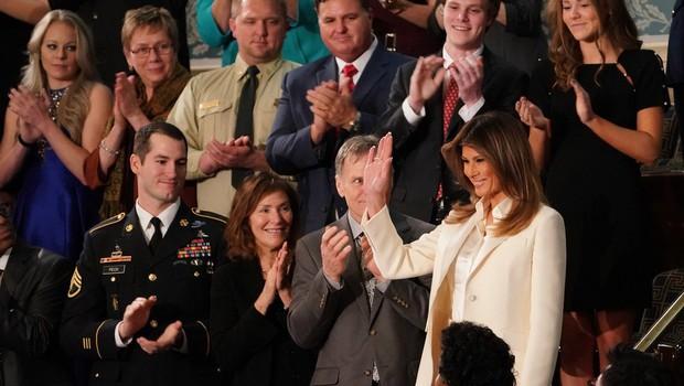 Melania Trump prelomila tradicijo in v kongres prišla ločeno od soproga! (foto: profimedia)