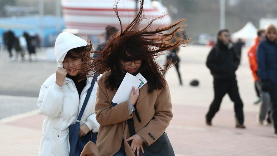 Zaradi močnega vetra zaprli olimpijski park, niso pa ogrožena tekmovanja v dvoranah! (foto: profimedia)