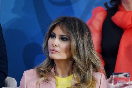 Po več kot treh tednih Melania Trump prvič v javnosti!