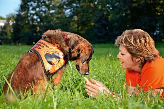 Jožica in Ari sta ambasadorja nasmeha pri društvu za terapijo s pomočjo živali