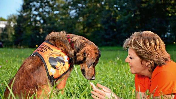 Jožica in Ari sta ambasadorja nasmeha pri društvu za terapijo s pomočjo živali (foto: osebni arhiv)