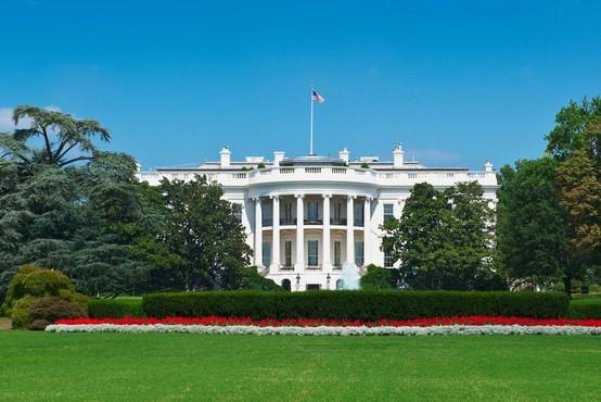 Pred Belo hišo se je zažgal neznan moški