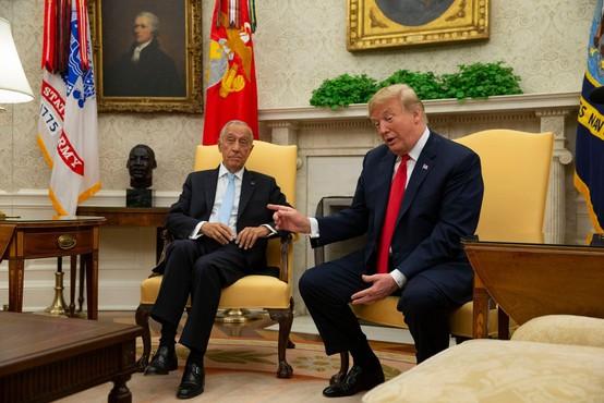 Trump s portugalskim predsednikom tudi o nogometu!