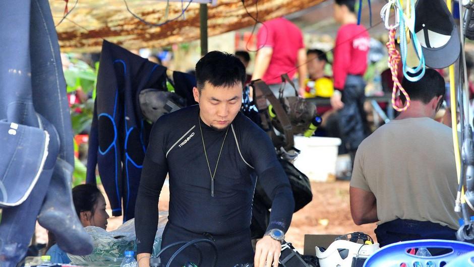 Med reševanjem tajskih dečkov umrl izkušen potapljač (foto: profimedia)