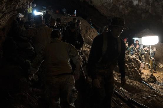 Torkovo reševanje tajskih dečkov bi se zaradi nenadne okvare črpalke skoraj končalo tragično