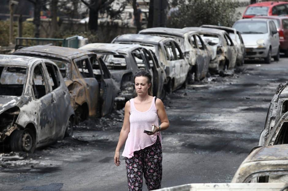 Požar v bližini Aten bi bil lahko tudi podtaknjen, kažejo indici! (foto: profimedia)
