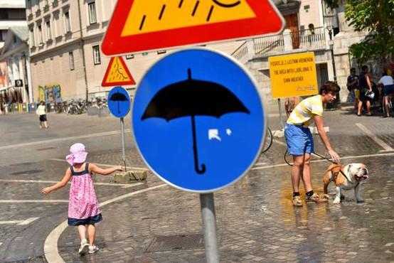 Opozorila vremenoslovcev o veliki toplotni obremenitvi in možnosti krajevnih neurij