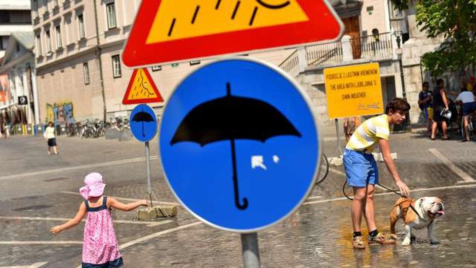 Opozorila vremenoslovcev o veliki toplotni obremenitvi in možnosti krajevnih neurij (foto: Tamino Petelinšek/STA)