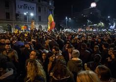 Policija neusmiljena do protestnikov v Bukarešti, več kot 450 poškodovanih