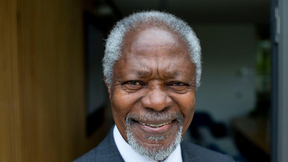 V Švici je po krajši bolezni danes umrl nekdanji generalni sekretar ZN Kofi Annan (foto: profimedia)