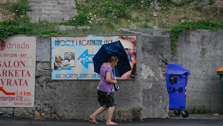 Ponekod na Hrvaškem hudo neurje, siloviti sunki vetra, dež in toča (foto: Profimedia)