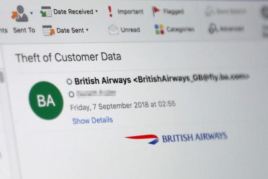 Hekerji British Airways ukradli podatke 380.000 plačilnih kartic